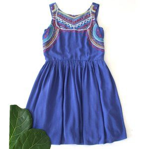Xhilaration Blue Southwest Tribal Dress Size Small